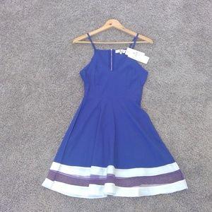 Blue and White Sun Dress